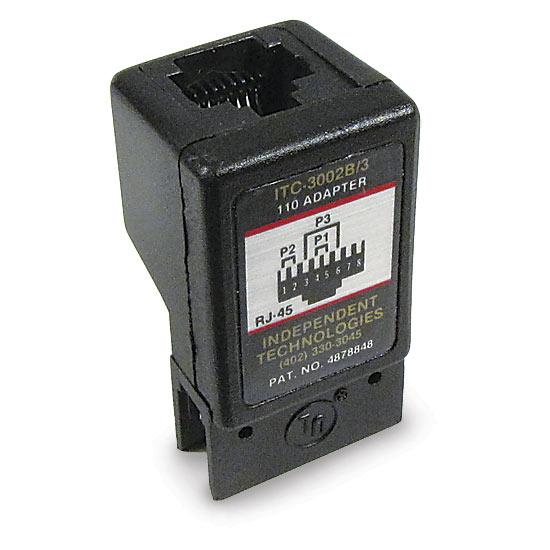 110 block adapter 3 pair rj45 568b. Black Bedroom Furniture Sets. Home Design Ideas
