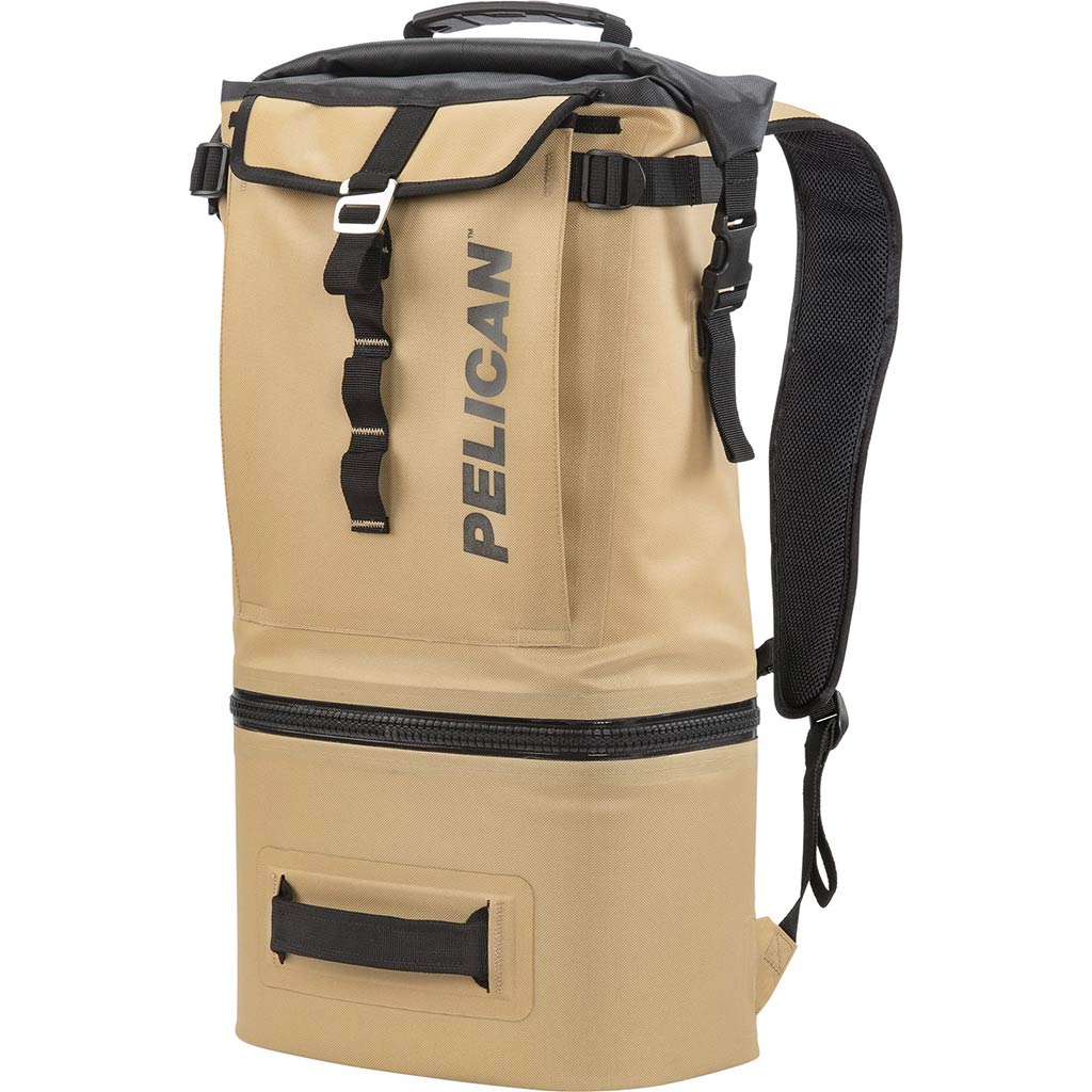 Pelican Dayventure Soft Sided Tan 19Q Backpack Cooler