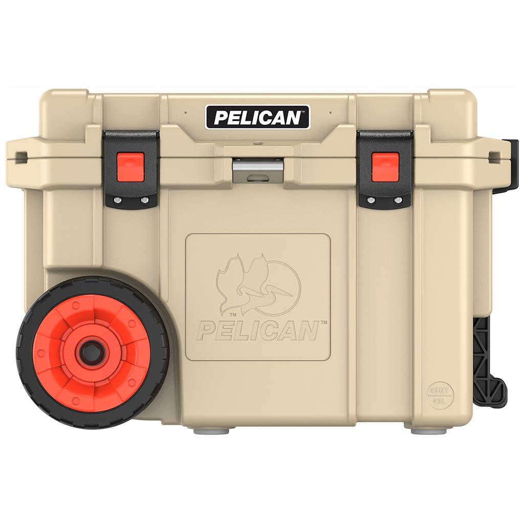 Pelican 45Q Tan Elite Wheeled Cooler