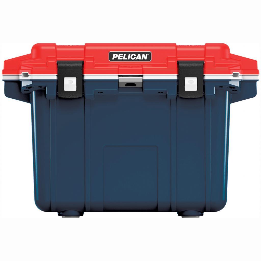 Pelican Elite 50 Quart Blue, Red & White Cooler