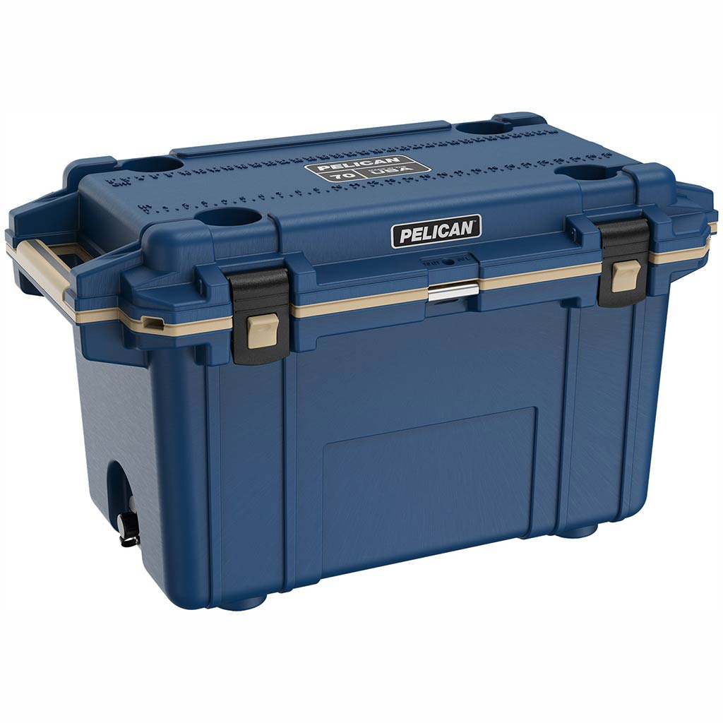 Pelican Elite 70 Quart Blue Cooler