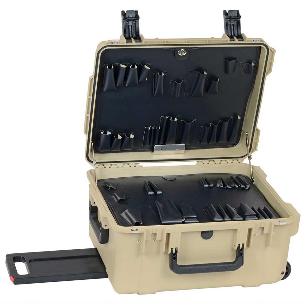 "PWDT 11"" Lifetime Warranty Wheeled Desert Tan Tool Case"