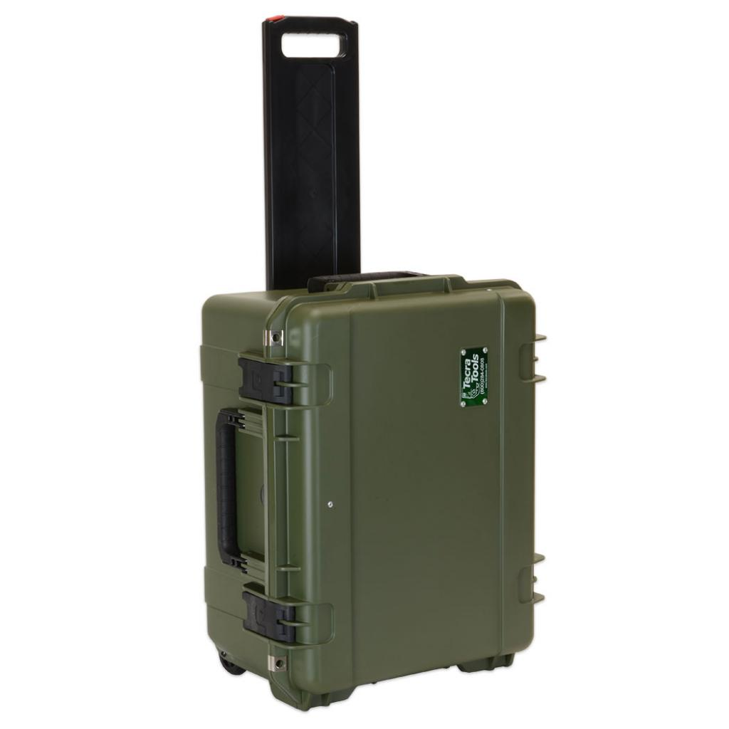 "Deluxe Copier & Printer Repair Tool Kit in 10"" Wheeled SKB OD Green Waterproof Case"