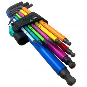 Wera 9 Piece Metric Multicolour Hex Key Set