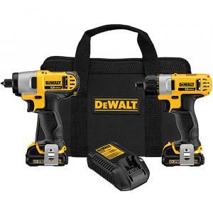 DeWalt 12 Volt Max Screwdriver & Impact Driver Combo Kit