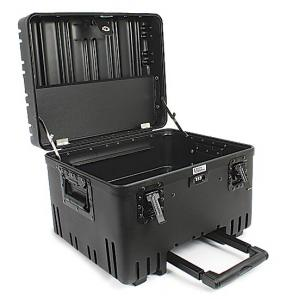 10-inch Roto-Max Military-Grade Wheeled Tool Case, Black, Open View