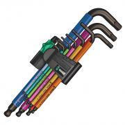 Wera 9 Piece Metric Multicolour Hex Key Set