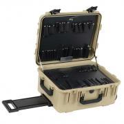 "8"" Lifetime Warranty Wheeled Desert Tan Tool Case"