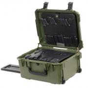 "PWLD 8"" Lifetime Warranty Wheeled Olive Drab Tool Case"