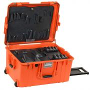 "13"" Lifetime Warranty Orange Wheeled Tool Case"